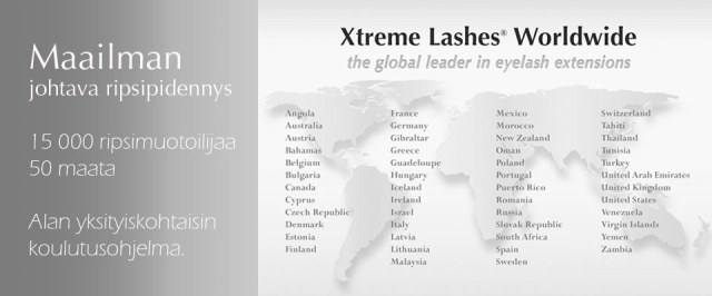 15 000 koulutettua ripsimuotoilijaa ympäri maailman