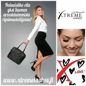 Xtreme Lashes -ripsienpidennyskoulutuksia järjestetään Espoossa, Tampereella ja Oulussa. Haluaisitko olla yksi Suomen arvostetuimmista ripsimuotoilijoista?